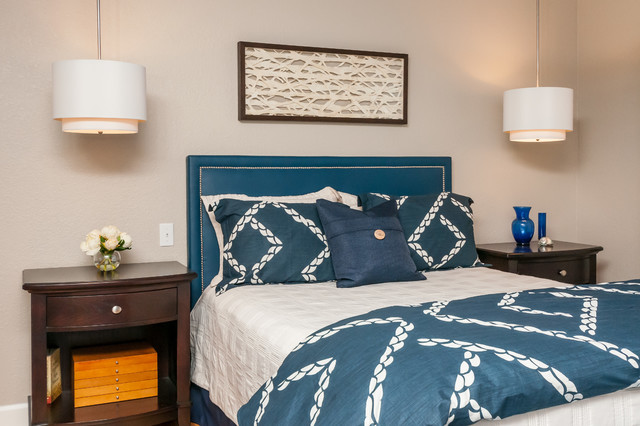 fremont navy blue master bedroom transitional bedroom