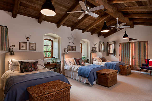French country estate mediterranean bedroom phoenix for Boys country bedroom ideas