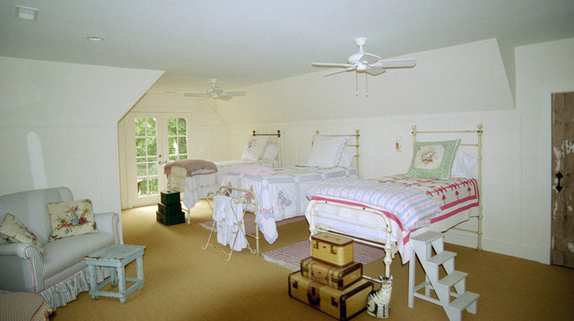 French Country Farmhouse Guest Bedroom in Middleburg Virginia Farmhous