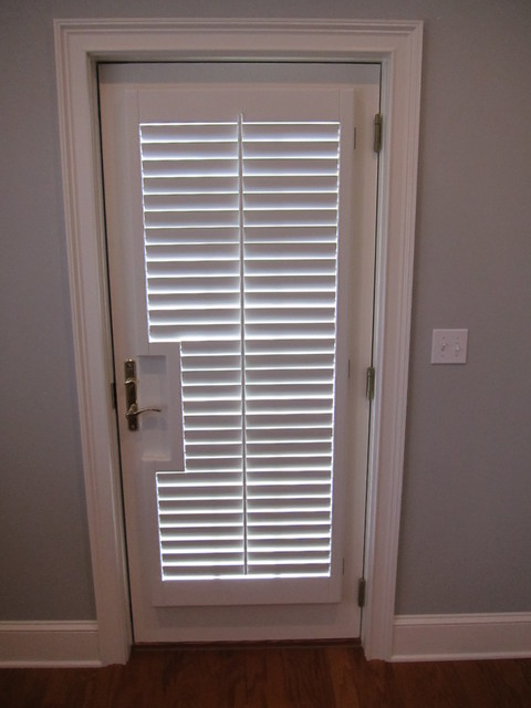 French Door Shutters Traditional Bedroom