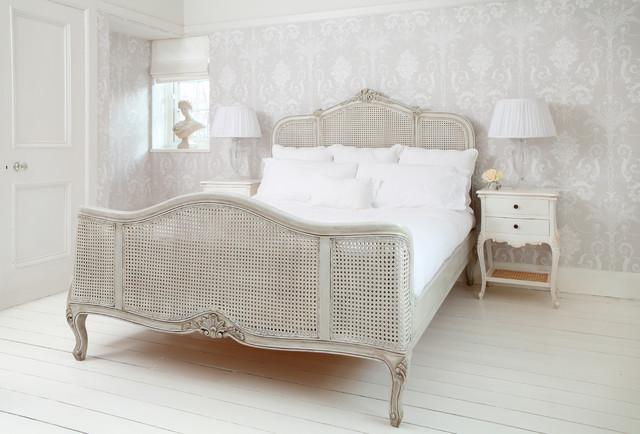 French grey rattan french bed   shabby chic style   camera da ...