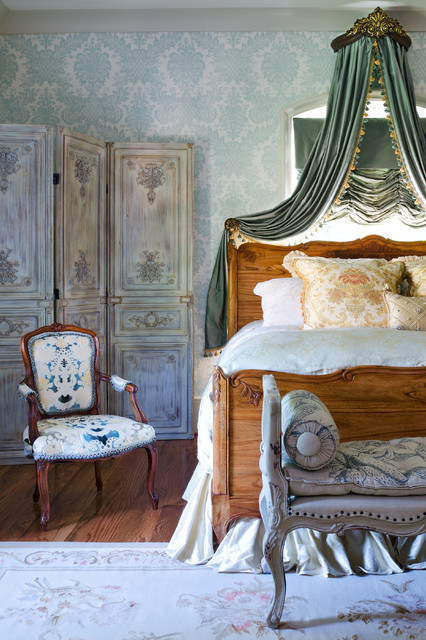 French Guest Bedroom traditional-bedroom