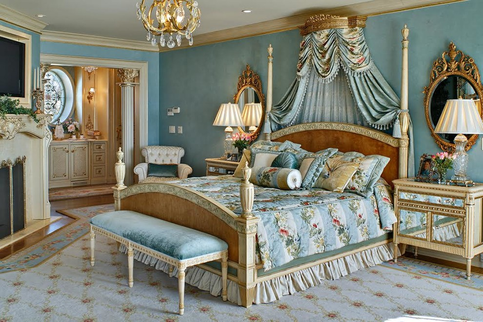 French Influenced Master Suite Victorian Bedroom Phoenix By Diane Boyer Interiors Llc