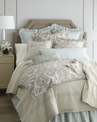 French Laundry Home Quot Gray Damask Quot Bed Linens Traditional