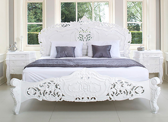 French rococo bed shabby chic style bedroom other for Shabby chic bett