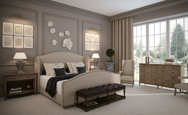 French Romance Master Bedroom Design Traditional Bedroom