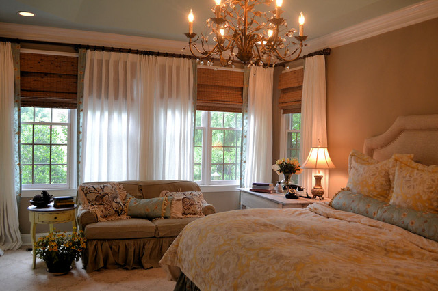 French shabby chic master bedroom traditional bedroom for Posh bedroom designs