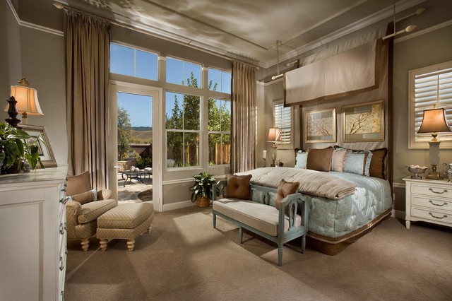 French Style Master Bedroom Traditional San