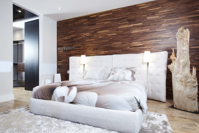 Friendlywall wood paneling contemporary bedroom salt for Meuble mural wall