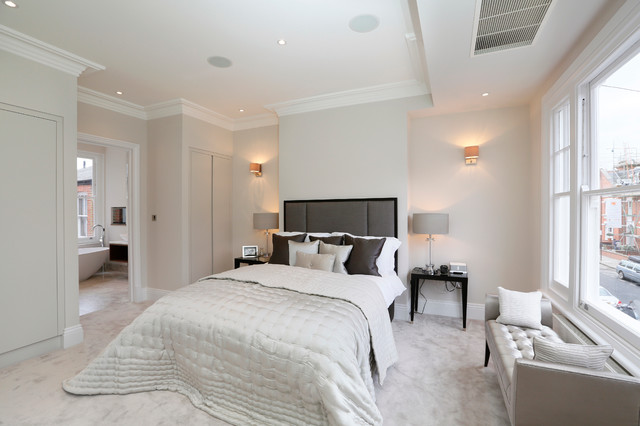 Fulham refurbs extensions contemporary bedroom for Crown molding bedroom ideas
