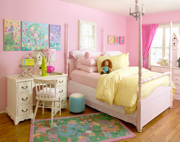 fun fairy bedroom for girls contemporary bedroom san diego by oopsy daisy fine art for kids. Black Bedroom Furniture Sets. Home Design Ideas