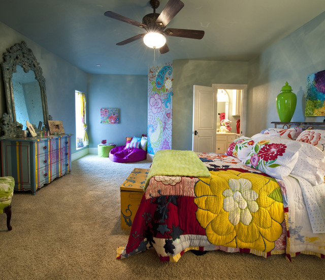 Gaillardia show home eclectic-bedroom