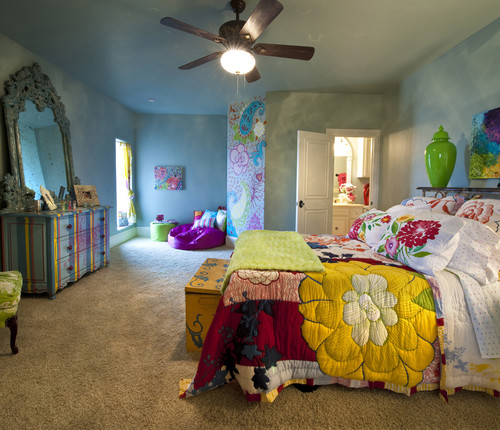 eclectic bedroom by Rick Hoge