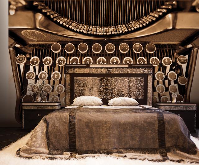 galerie steampunk typewriter mural industrial schlafzimmer sonstige von wallpaperdirect. Black Bedroom Furniture Sets. Home Design Ideas
