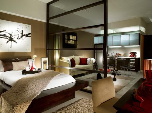 Κρεβατοκάμαρα με ασιατική διακόσμηση
