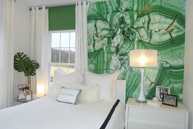 modern bedroom by Carlyn And Company Interiors + Design  Pantone Color of 2013: Emerald Decorations modern bedroom