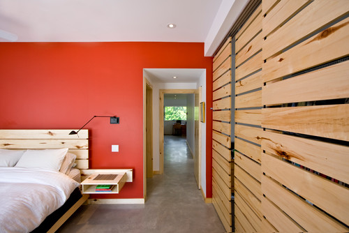 & How to make this slatted wood sliding door?