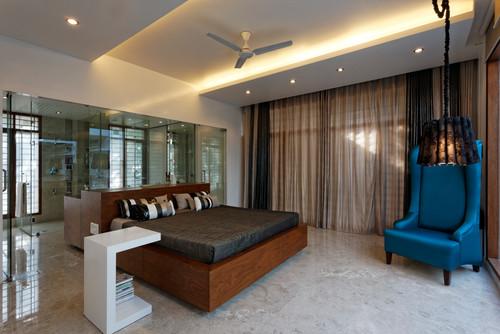 Gypsum False Ceiling design in Bedroom