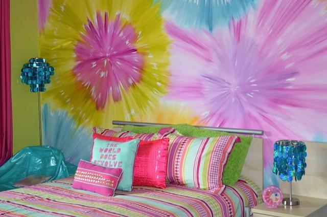 Garden Hills Tye Dye Modern Bedroom Houston By