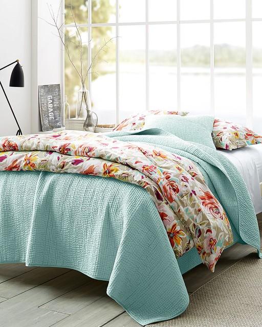 Garnet Hill Rustic Roses Bedroom Eclectic Bedroom