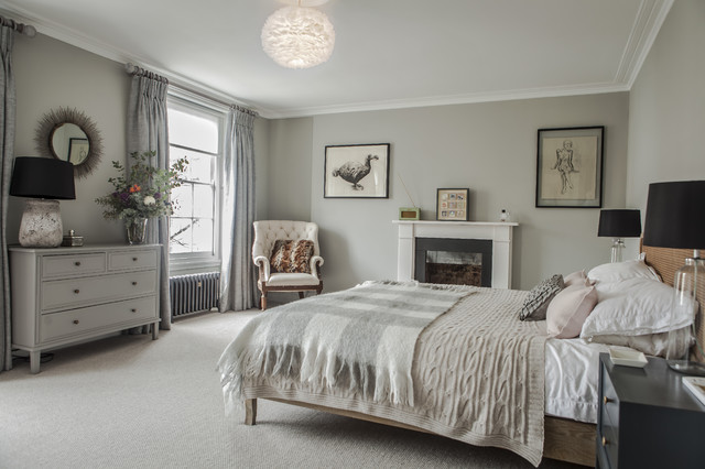 Georgian Townhouse Transitional Bedroom London By
