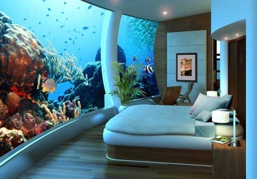 giant tank wall  bedroom