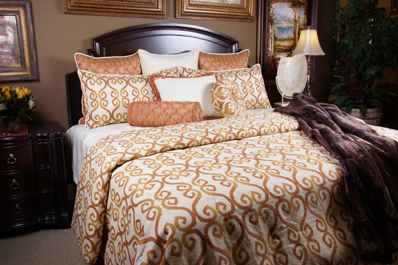 Ginger duvet set contemporary bedroom salt lake city by k r interiors for Bedroom furniture salt lake city