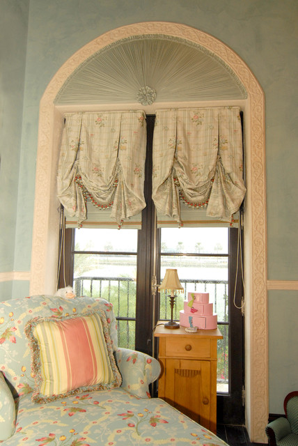 Girl 39 S Bedroom French Door Window Treatment