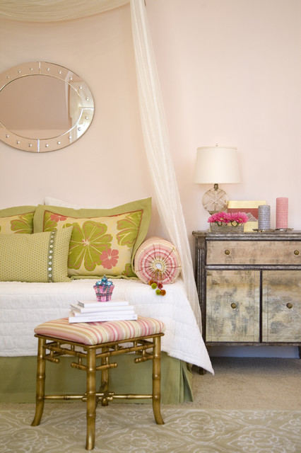 Glam & Pink Girl's Bedroom eclectic-bedroom