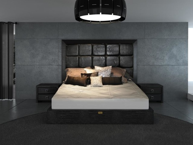 Glam Black Armani Xavira Collection Bed Contemporary Bedroom - Armani bedroom design