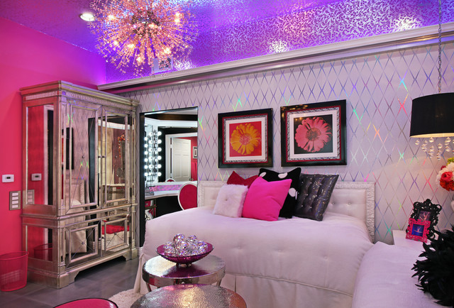 Glam Dance Studio Contemporary Bedroom Los Angeles
