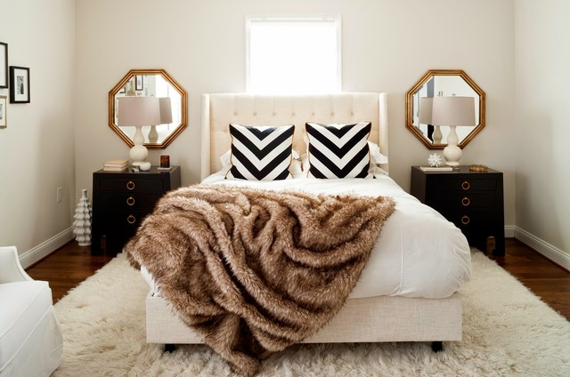 Exceptionnel Glam Whole House Makeover Transitional Bedroom