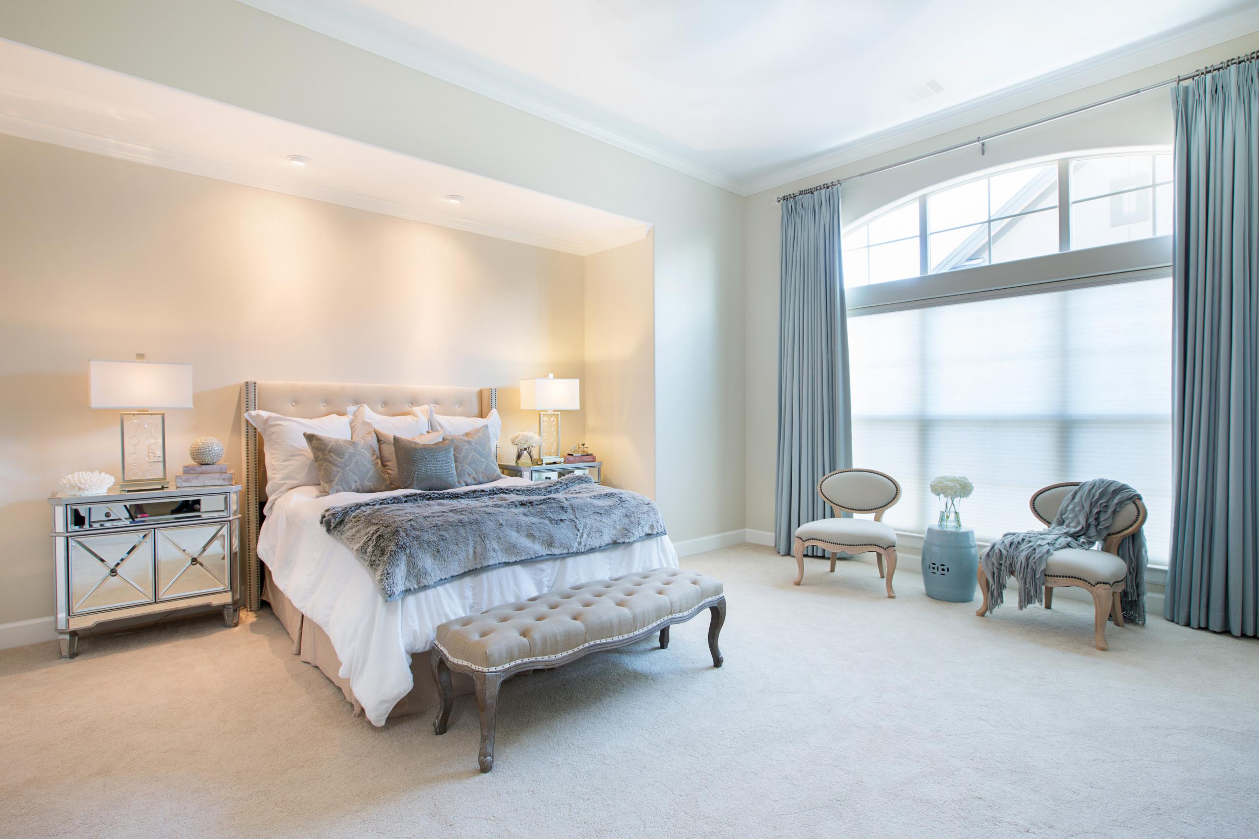 Glamorous Master Bedroom Houzz