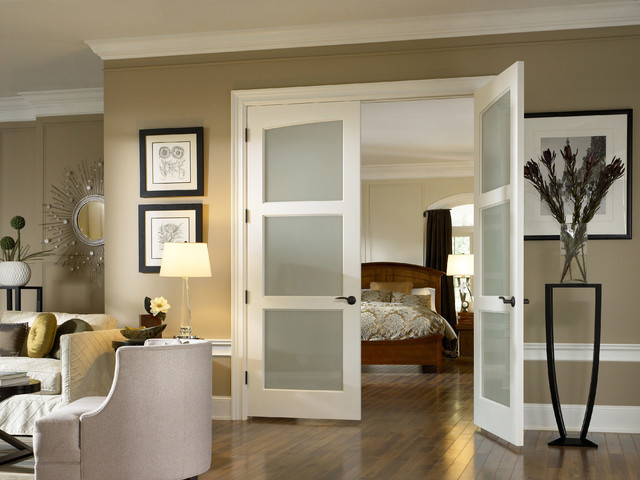 glass doors  traditional  bedroom  other  by interior door and,