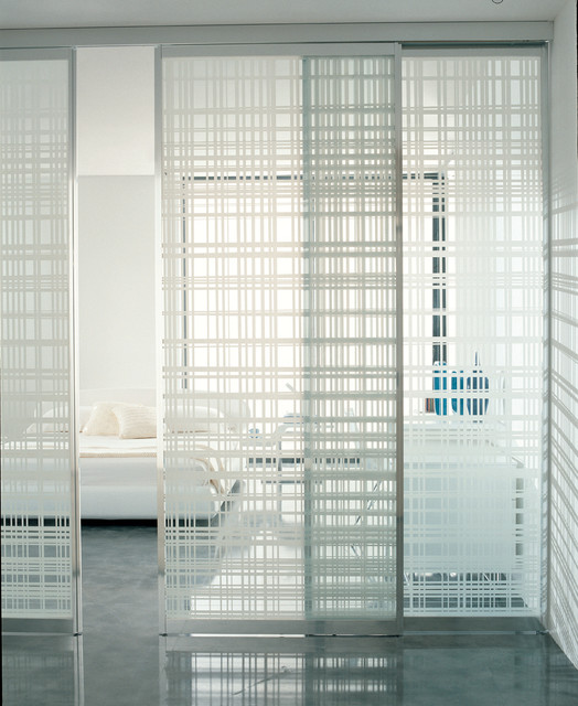 Glass room dividers Contemporary Bedroom Dorset by