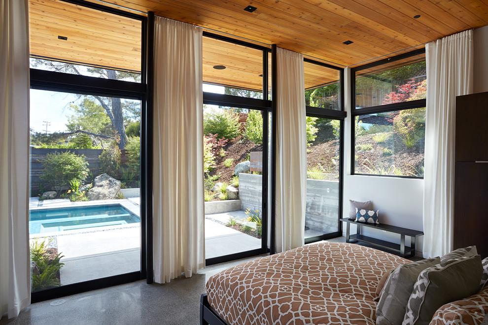 Minimalist bedroom photo in San Francisco