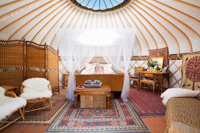 Glastonbury Yurt Tropical Bedroom London By Fine House