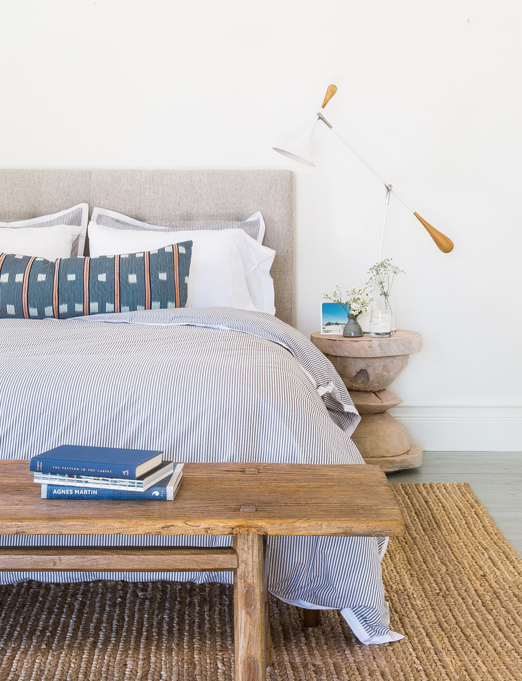 Large cottage guest light wood floor bedroom photo in San Francisco