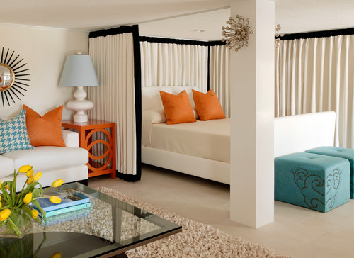 draw curtain room divider