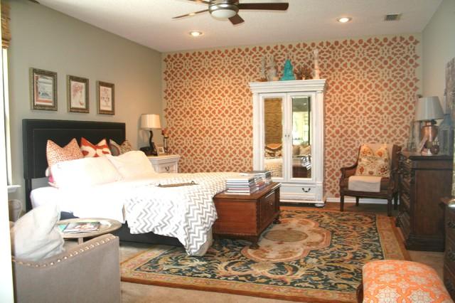 Superb Global Style Master Bedroom Eclectic Bedroom
