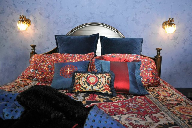 Globally Eclectic Ranch Home eclectic-bedroom