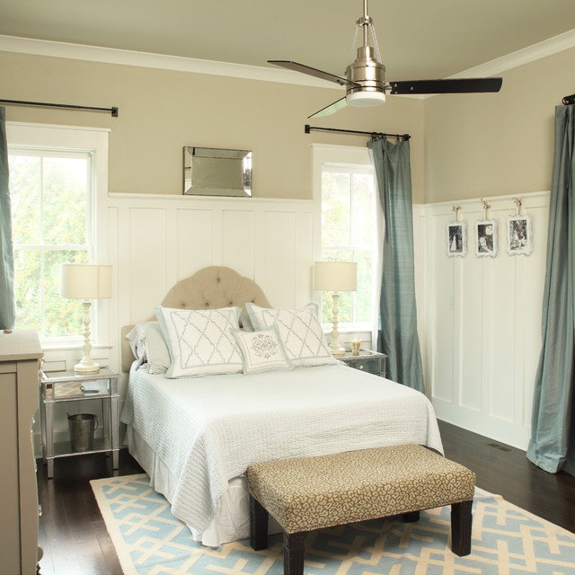 Bedrooms Transitional Home: Glossy Ibis