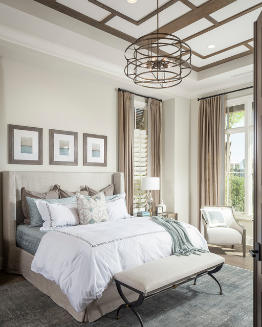 Elegant Mediterranean Bedroom by High Res Media LLC