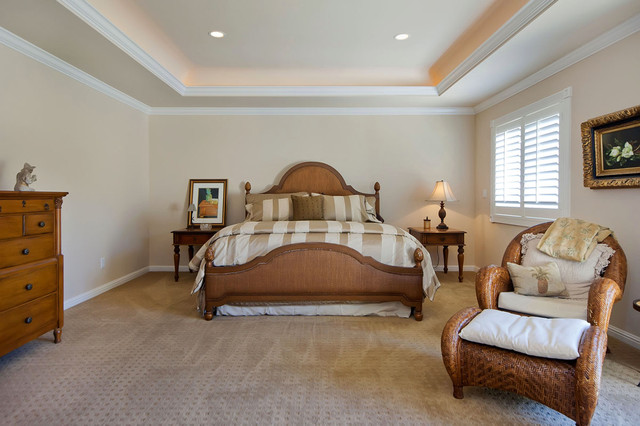 Golf Course Home traditional bedroom