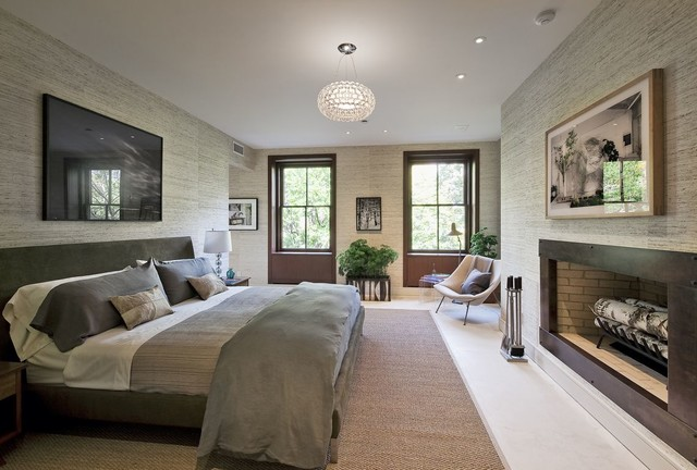 gramercy townhouse contemporary bedroom - Townhouse Bedroom Design