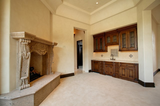 Fireplace in Multi-Million Dollar Home Designed by Fratantoni Luxury Estates mediterranean-bedroom