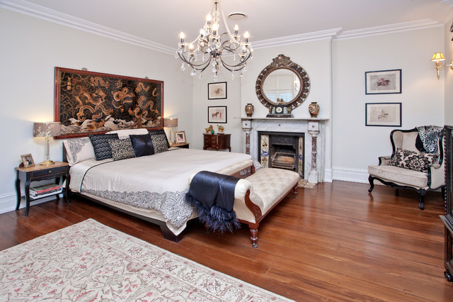 Grand victorian terrace lower north shore for Bedroom ideas victorian terrace