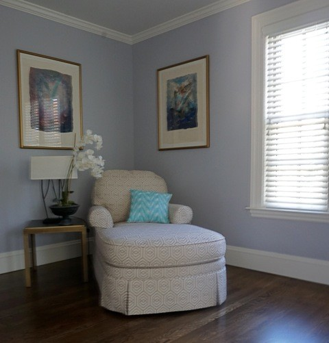 Gray lavender master suite traditional bedroom - Lavender and gray bedroom ...