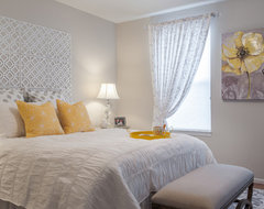 Gray and Yellow Bedroom contemporary-bedroom