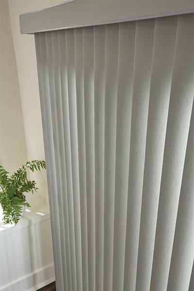 gray vertical blinds graber sliding door blinds modern. Black Bedroom Furniture Sets. Home Design Ideas